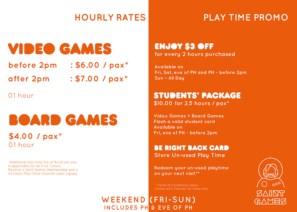 Weekend Rates @ Saint Games